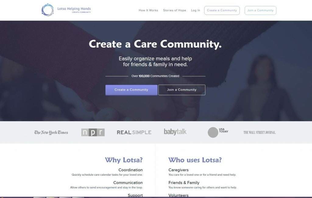 Lotsa Helping Hands Homepage