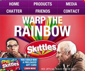 Skittles com- Interweb the rainbow  Taste the Rainbow _1255121674409