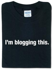 I'm blogging this t-shirt