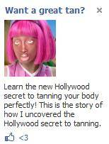 hollywood tanning ad