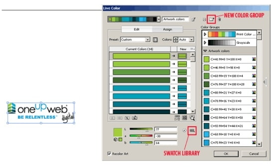 Oneupweb | Oneupweb : Converting CMYK to PMS in Illustrator CS3