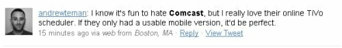 comcast tweet screenshot