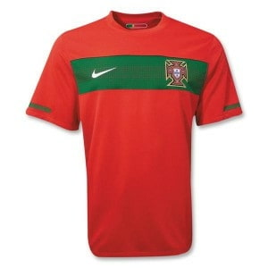 Portugal's 2010 home jersey