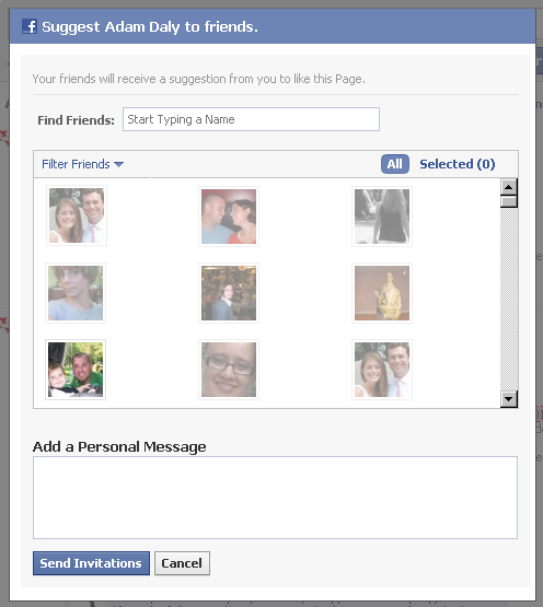 Facebook Adds a Personal Message to Suggest a Page Oneupweb Reviews