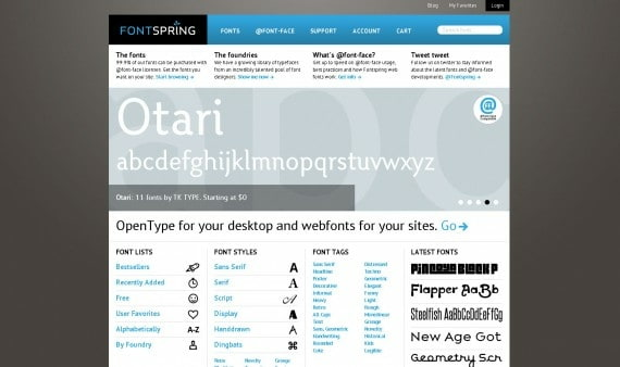 fontsprings.com home page