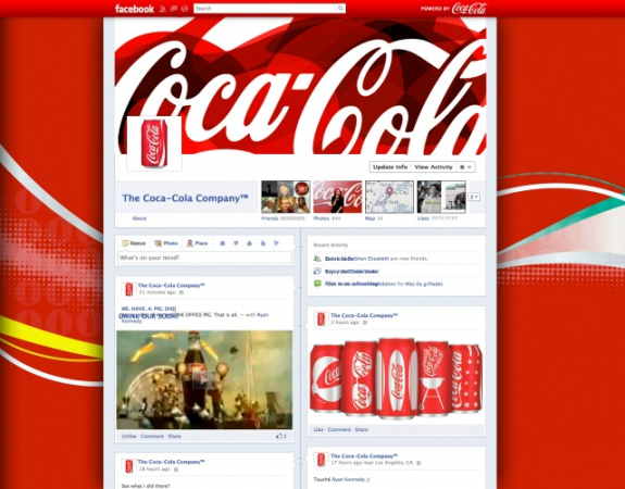 Facebook Timeline Brand Pages Coke Oneupweb