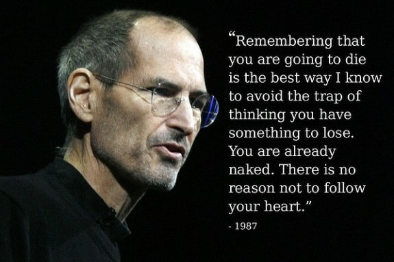 Steve Jobs Quote on Death Oneupweb