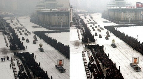 North Korea Photoshops Kim Jong-il's Funeral Procession