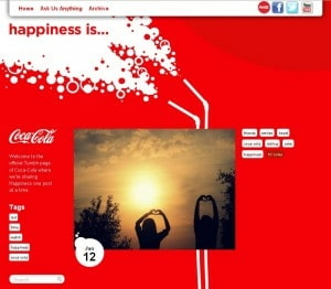 Coca-Cola Happiness Is Tumblr Blog