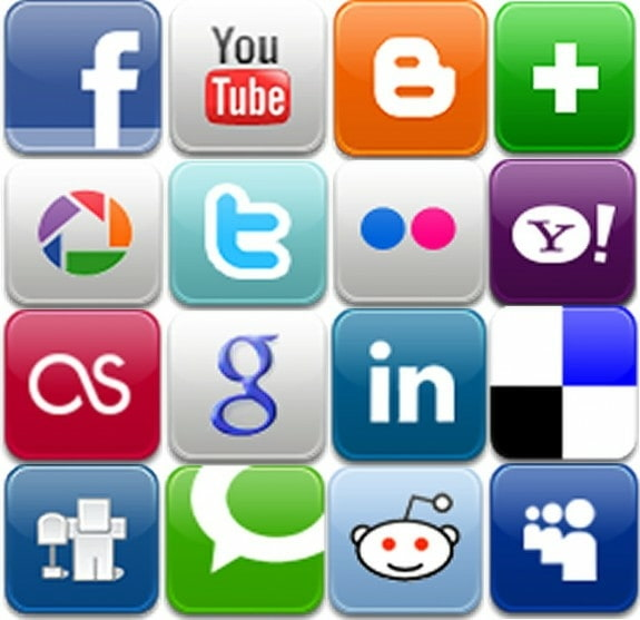 social media icon buttons