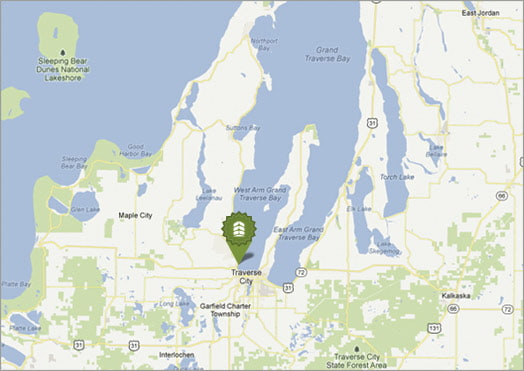 Oneupweb digital marketing office location on Michigan map