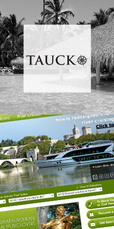 Tauck logo and website design