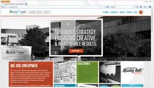 The new Oneupweb site