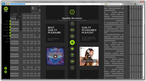 Screenshot of the Spotify Year in Review Microsite