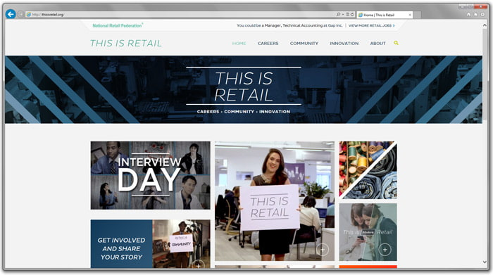 Screenshot of the This is Retail website