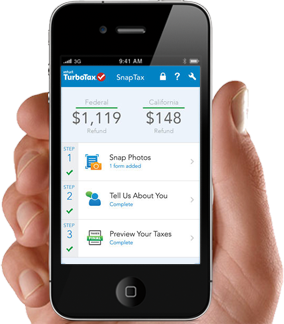 SnapTax screenshot showing the App