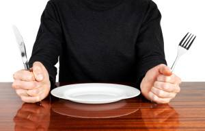 image of a man with an empty plate