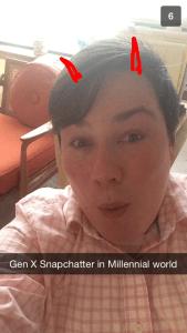 GenX snapchat in a Millennial world