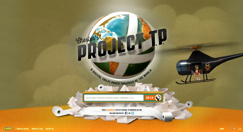 Screenshot of the Cheetos Project TP website