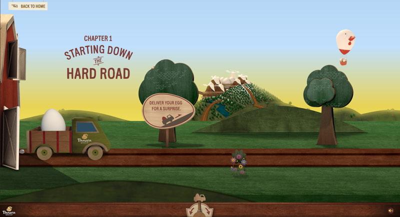 screenshot of the panera hard road website