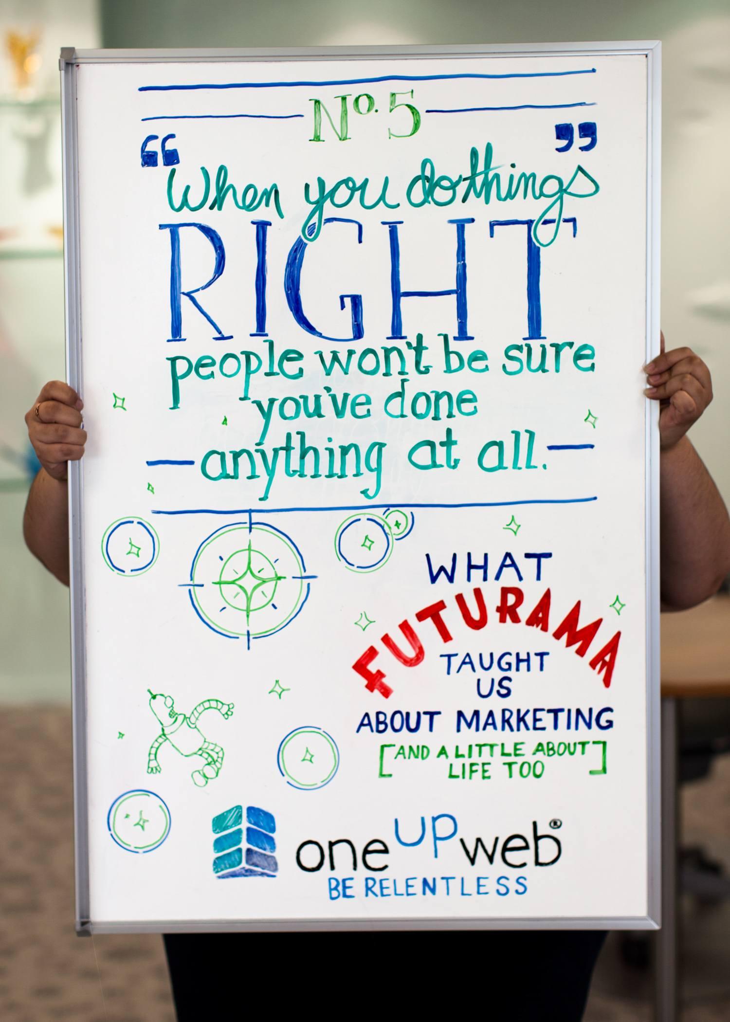 Oneupweb Marketing Tip of the Week: What Futurama taught us about marketin