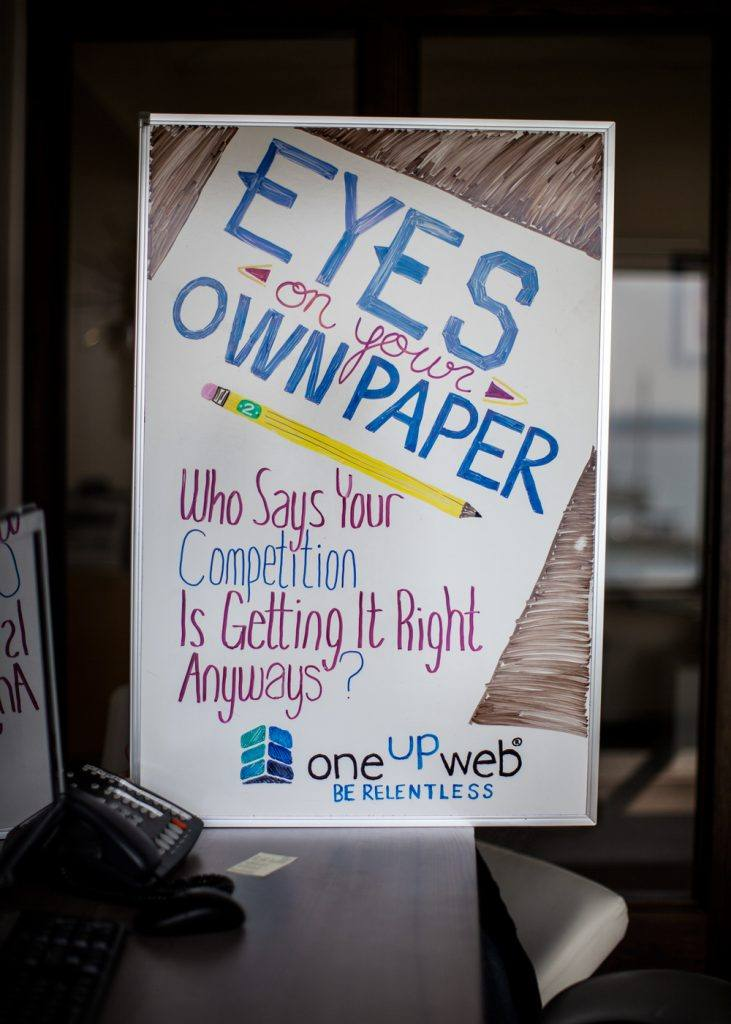 Marketing Tip of The Week: Eyes one Your Own Paper by @oneupweb