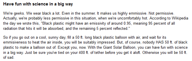 description of balloon