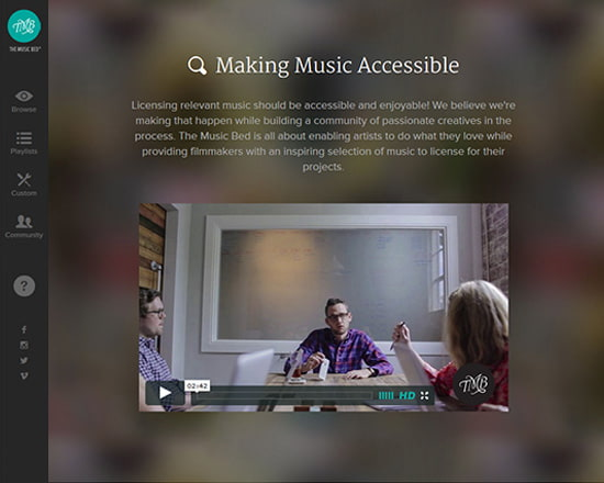 The Music Bed—Use Video as a Powerful Tool
