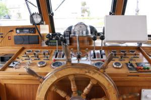 a boat wheelhouse