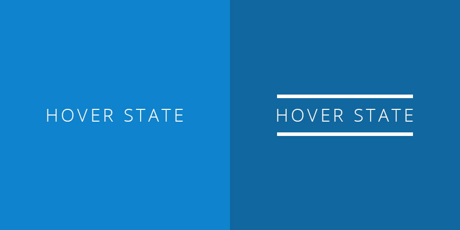 Hover States example