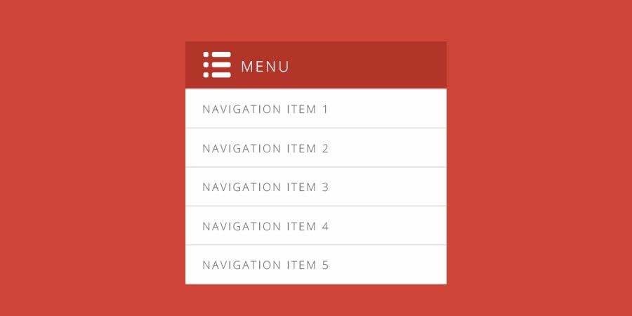 dropdown menu example
