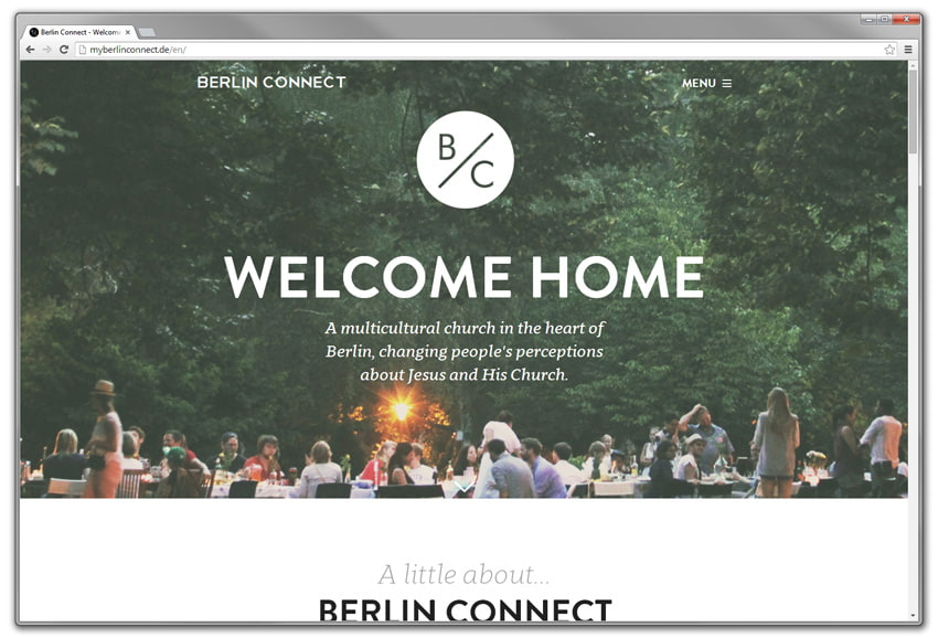 screenshot of a website: berlin connect