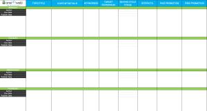 Content Calendar Blank