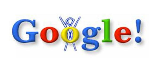 Google Doodle: the first Google Doodle ever