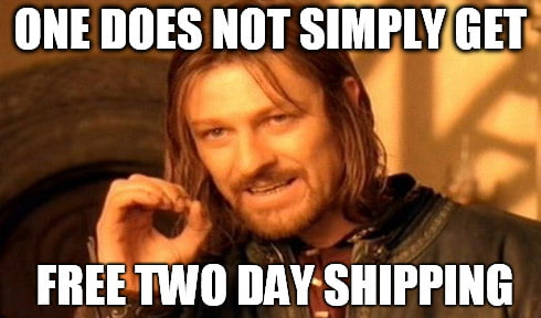 two-day shipping ned stark meme