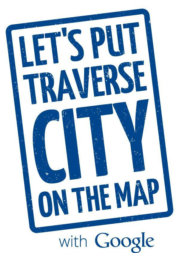 Let's Put Traverse City on the Map Google Logo