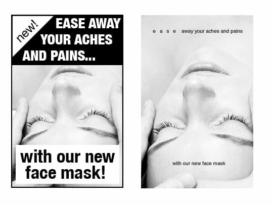 Mark Boulton demonstrates the difference whitespace makes to the overall feel of an ad. Even though both designs contain the same text and images, the one on the right feels more luxurious thanks to the addition of more whitespace.