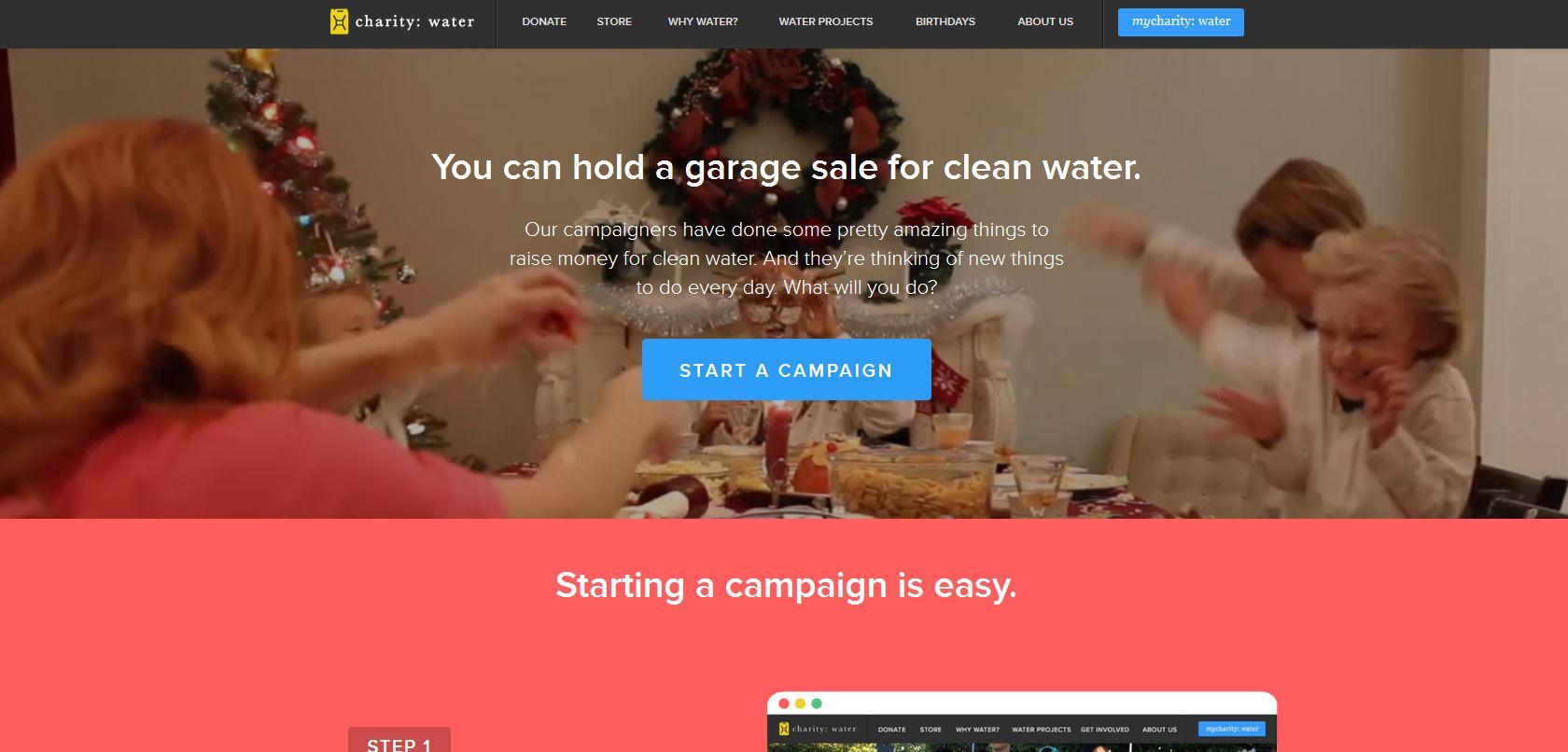 charity-Homepage