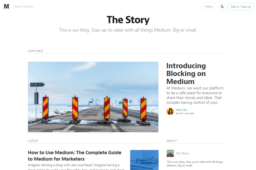 Blog Design Medium