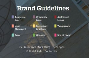 graphic image indicating brand guidelines
