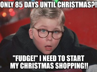 holiday shopping meme