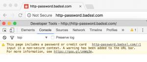non secure site