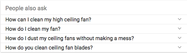 People also ask keyword phrases.