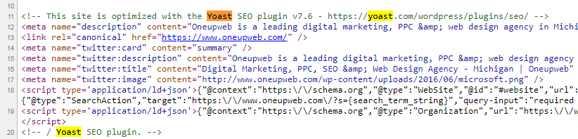 Yoast SEO source code
