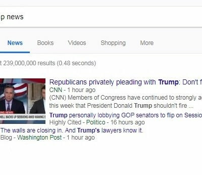 trump google results
