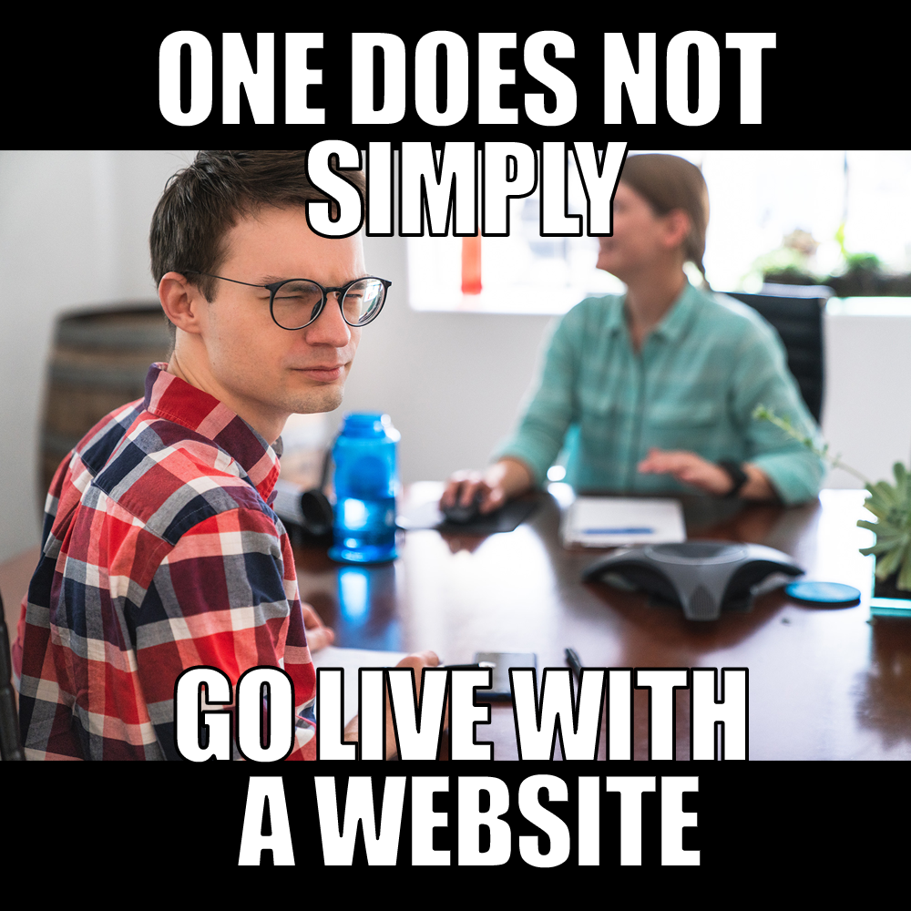 Go live with a website