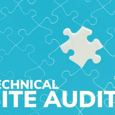 blue puzzle with white piece missing technical site audit type