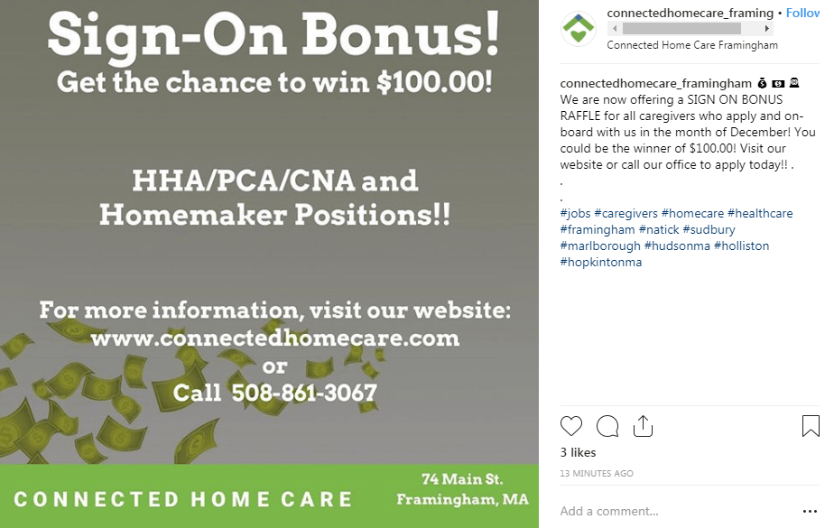 connected homecare instagram