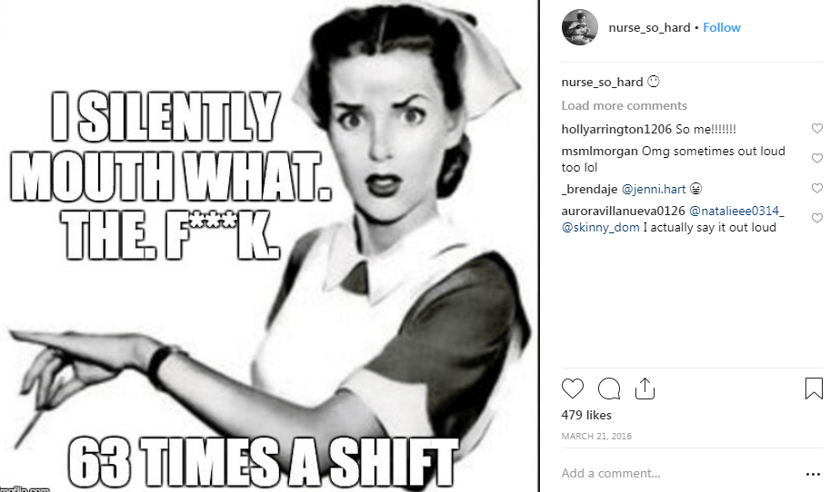 nurse so hard instagram