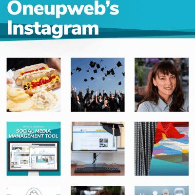 oneupweb instagram category landing page